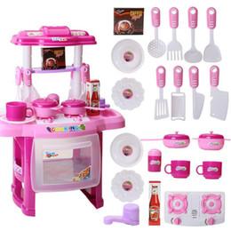 ollas de juguete de metal Rebajas Nuevos niños, electrodomésticos de cocina, juegos, niños, cocina, juguetes, cocina grande, cocina, vajilla, simulación, modelo, colorido, juego, juguete educativo