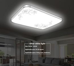 Wholesale Modern Ceiling Light Rectangular - LED ceiling lamp dimming living room lamp rectangular simple modern restaurant balcony room bedroom lighting