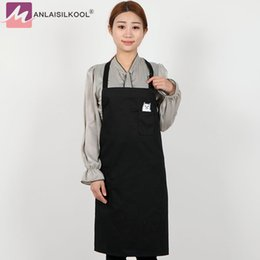 Wholesale Pure Restaurant - 2018 Unisex Simple Pure Color Kitchen Restaurant Bib
