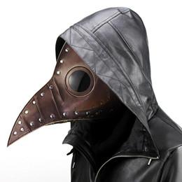 Maschere viso punk online-Halloween Piaga Lungo Becco Uccello Medico Maschera Cosplay Maschera punk Maschere Feste per feste a tema