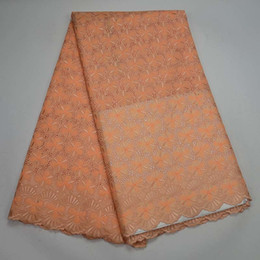 Wholesale Embroidered Cotton Voile Fabric - Latest Embroidered Nigerian Swiss Voile Lace Fabric In Switzerland 2017 High Quality African Lace Cloth Fabric For Men And Women