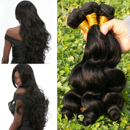 Canada Vente chaude Indien Vierge Cheveux Corps Vague 3 Bundles Différente Taille, Cheveux Humains Remy Tisse 100% Extensions de Cheveux Non Transformés Offre