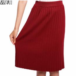 2017 High Waist Pleat Elegant Skirt Flared Skirts Fashion Women Faldas Saia  5XL Plus Size Ladies Jupe discount fashion pleated flared skirt
