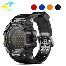 Wholesale Waterproof Android Camera - New Sport smart watch buzzer sound alarm sport monitor IP67 waterproof burned calory men watch remote camera watches EX16