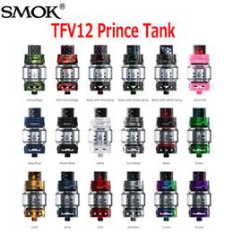Wholesale x6 atomizer tank - Original SMOK TFV12 Prince Cloud Beast Tank Big 8ml Capacity Sub Ohm Atomizer Wide Bore Drip Tip Fit V12 Q4 X6 M2 T10 Coil 100% Authentic