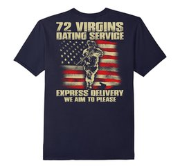 Wholesale Green Printing Services - 72 Virgins Dating Service Shirt