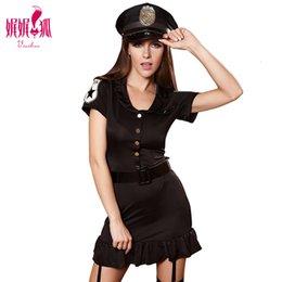 oficial de policia Rebajas Mujeres atractivas Hottie Police Costume Dresses Cosplay Uniforme Sexy Cop Officer Costume Ladies Policewomen Party Halloween Cosplay
