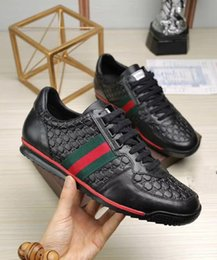 Wholesale Mens Black Leather Casual Shoes - 2018 New Arrival mens casual shoes Top quality men sneakers men fashion luxury shoes Sheepskin insole model