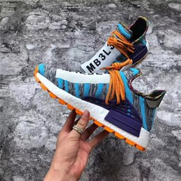 21c290b10 2018 New Release Pharrell Williams x Originals NMD Hu Trial Solar Pack  M1L3L3 Human Race Men Women Running Shoes Authentic Sneakers With Box