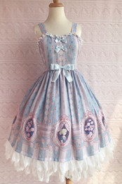 Canada Qualité Plus Size Thème Costume Doux Robe Lolita Bonbons Coloré Style avec De Mignons Noeuds Élastique Fermeture Dos Offre