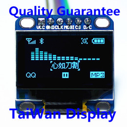 "3-5V 0.96/"" SPI Serial 128X64 OLED LCD LED Anzeigen Modul Blau Gelb   Arduino"