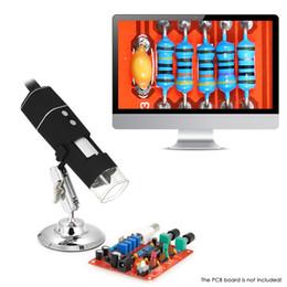 2019 loupe portable à microscope numérique Grossissement portatif sans fil du microscope 1000X de LED de 8 LED avec le support Vrai 1MP caméra vidéo Microscopio Magnifier loupe portable à microscope numérique pas cher