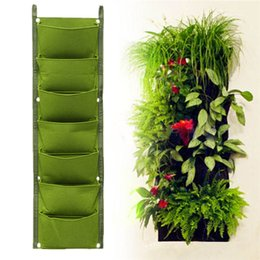 Wholesale Wholesale Grow Tents - 1*0.3m 7-Pockets Non-Woven Fabric Flower Pots with Handles Bag for Seeds Growing Grow Tent Garden Decor Greenhouse Fairy Garden Miniatures