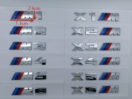 Plata Tres tiras de colores /// M M2 M3 M4 M5 Cromo Emblema Car Styling Fender Trunk Badge Logo Sticker para BMW Calidad superior desde fabricantes
