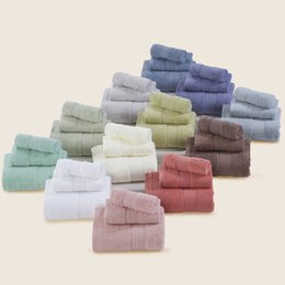 Wholesale Bathroom Cheap - Cheap hot sale 3-Pieces Cotton Towel Set Hand towel Face Bathroom bath for adults Absorbent Drying Home Textile