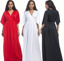 Maxi abito manica corta Kaftan manica lunga donna Plus Size per donne e donne incinte da