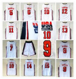 Melhores pássaros on-line-1992 Camisa do Time dos Sonhos 9 Michael 5 Robinson 6 Ewing 7 Larry Bird 8 Caneta 10 Drexler 11 Malone 12 STOCKTON 14 BARKLEY 15 JOHNSON TOP