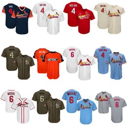 Wholesale molina baseball - Men Women Youth Cardinals Jerseys 4 Molina 6 Musial Jersey Baseball Jersey White Grey Red Cream Salute to Service Players Weekend All Star