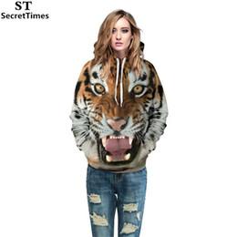 SecretTimes Moda Feminina / Homens 3d Camisolas de Impressão Tigre Animal Casuais Hoodies Com Cap Outono Inverno Casaco Com Capuz Com Frente Bolsos supplier women s sweatshirt tiger fashion de Fornecedores de camisola feminina moda tigre