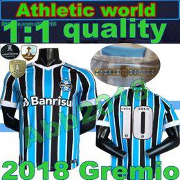 Wholesale L S Model - 2018 Gremio home 3rd soccer jersey 18 19 Brazil RAMIRO Geromel LUAN MAICON Fernandinho away Third model football shirt Gremio Size S- 3XL