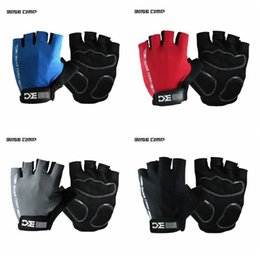 Wholesale half table - 4 Colors BaseCamp Outdoor Bicycle Gloves Breathable Sports Cycling Half Finger Gloves Five Fingers Glove 2pcs pair CCA9219 700pairs