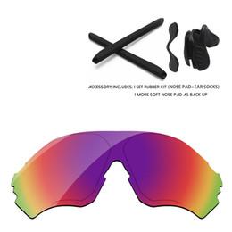 Lentes de substituição de óculos de sol on-line-Kits de Borracha Lentes de Reposição do Espelho Polarizado Vermelho roxo Para EVZero Faixa de óculos de Sol Quadro 100% UVA UVB Proteção