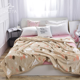 Wholesale Thin Summer Quilts - Blanket summer thin flannel thick quilt coral fleece blanket sofa blanket single double bed single