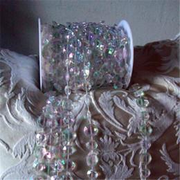 Rollo de cuentas de cristal online-Eco-Friendly 30 metros / 99ft / rollo de bricolaje iridiscente Garland diamante de acrílico perlas de cristal de Strand Shimmery boda del árbol de Navidad Decoración