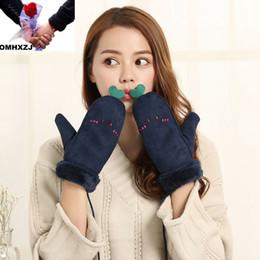 Lovely Feitong Fox Cartoon Hang Neck Children Gloves Winter Thicken Warm Chrismas Xmas Gift Invierno Mujer #4 Men's Gloves