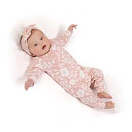 Wholesale Girls Leopard Outfit - 2018 autumn style baby girls rompers Long sleeve pink one piece romper +Headband 2pcs Christmas baby clothes jumpsuit outfits