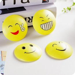 Wholesale Bathroom Glass Shelves - Expression Emoji Round Corner Protectors Corner Cushions For Glass Tables Or Shelves With 3M Sticker Baby Safe Free DHL XL-G45