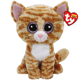 b6cd6ec6c18 Ty Beanie Boos Stuffed   Plush Animals Yellow cat Toy Doll With Tag 6