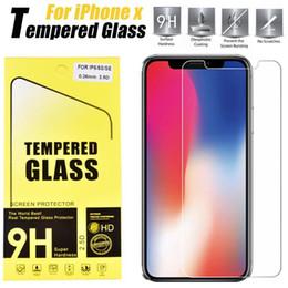 retailbox pour écran protecteur Promotion Pour Iphone X 8 7 7 plus 6 J7 2017 LG Stylo 3 Film de protection d'écran en verre trempé pour Samsung S6 S7 EP Qualité premium Retailbox 1 PACK