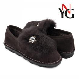 Wholesale Mature Ladies Women - Factory Outlet 2018 new winter warm flat fur shoes leather mature lady shoes wholesale spot
