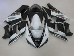 Wholesale Kawasaki Bike Fairing Zx6r - New ABS Motorcycle bike Fairing Kits Fit For KAWASAKI Ninja ZX6R 636 05 06 ZX 6R 2005 2006 zx6r 05 06 Fairings set Black white color