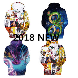 Wholesale Dragon Ball Z Hoodie - Classic anime Men Women Hooded Sweatshirt Brand clothing One Piece Dragon Ball Z Naruto 3d print Hoodies Hip Hop Pullovers