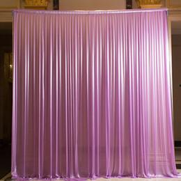 Alta calidad 3x6 m seda seda del hielo telones de fondo cortinas cortina para la boda etapa banquete decoración del partido desde fabricantes