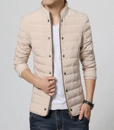 Wholesale eiderdown coat - Hot 2018 Winter Men New cultivate one's morality short thin eiderdown outerwear coats  M--XXXL