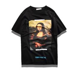 Wholesale High Shorts For Women - Mona Lisa Photo T Shirt Men Women 100% Cotton Tee High Quality White Tops Hip Hop Streetwear for young Fashion Mona Lisa T-shirt