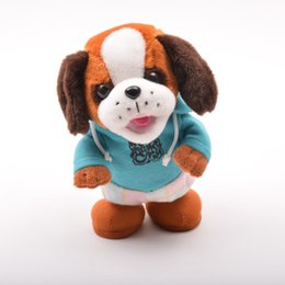 Wholesale Battery Operated Dolls - Electric plush interactive walking audio recording learn to talk doll puppy toys wholesale