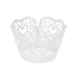 Argentina 50 unids Corazón Hueco Poco Vine Lace Laser Cut Cupcake Wrapper Liner Taza de La Hornada Taza de Pastel de Papel de BRICOLAJE Hornear Fondant Magdalena cheap vine paper Suministro