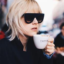 Wholesale Rivets Aluminum - Fashion Women Flat Top Style Ladies Cat Eye Sunglasses High Quality Rivet Sun glasses For Female UV400