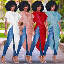 Canada Sexy Longue Boho Maxi robe de plage femmes Bodycon Pleat Party Dress mince chauve-souris manches Split Split Ruffles irrégulière robe d'été cheap boho pleated maxi dresses long Offre