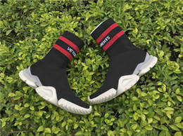 Wholesale Thanksgiving Socks Women - VETEMENTS SS CREW UNISES Sock Trainer Dropping RUNNING Shoes CN3307 Trainer Casual Shoe Man Woman Socks Stretch Knit Outdoors Casual Boots