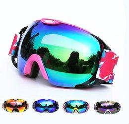 2019 grandes lunettes de ski lunettes de ski double couche anti-buée grand masque de ski lunettes ski hommes femmes neige snowboard lunettes moto promotion grandes lunettes de ski