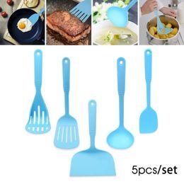 Wholesale Nylon Utensils - 5pcs Set Nylon Cooking Tools Handle Kitchen Utensils Cooking Utensil Set Skimmer Soup Ladle Spoon Slotted Turner #35