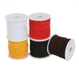 Строка для изготовления браслета онлайн-Dia 0.8/1.2/1.5mm Round Elastic Cord Beading Stretch Thread/String/Rope for DIY Jewelry Making Necklace Bracelet Material Supply