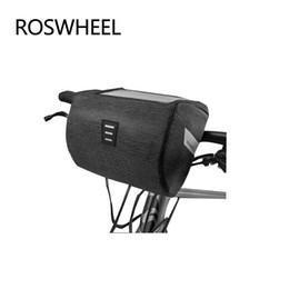 Wholesale bar hands bike - ROSWHEEL New Bicycle Head Bag Pvc Touch Screen Bavigation Bags For Bicycle Nylon Rainproof Hand Bag Bags Cycling Bike