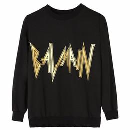Black sweatshirt online-Niñas Mujeres Otoño invierno Sudaderas casuales Sudaderas con capucha Sudadera de impresión Sudaderas con capucha de marca negro Tops HT04