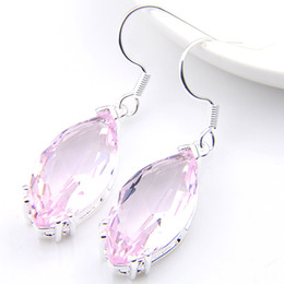 Wholesale Tibet Horse - Luckyshine New Arrive Christmas Gift 2pieces lot 925 silver plated Simple Horse eye Glass crystal Earring jewelry for lady e0121